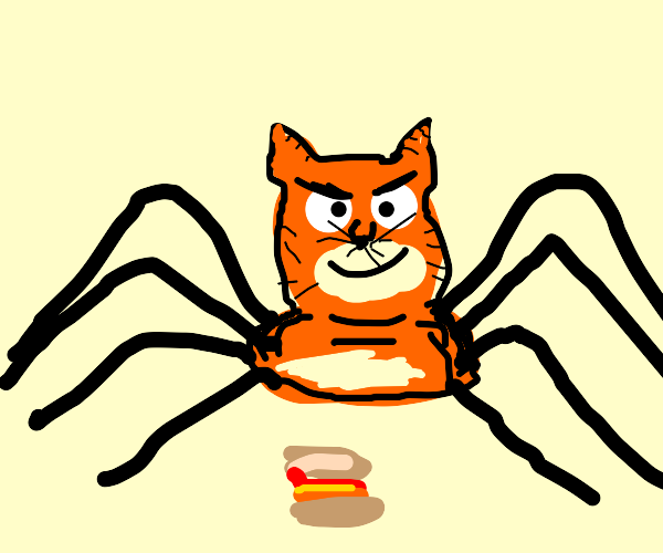 Garfield becomes a spider