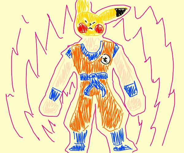 goku with pikachu head