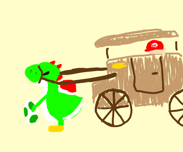 yoshi pulls carriage