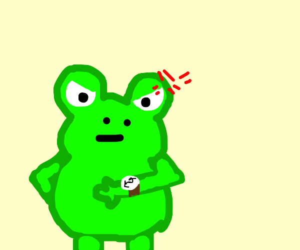 frog angry at the time