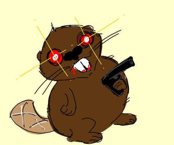 World's creepiest beaver with a gun