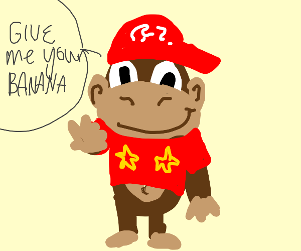 diddy kong is out for your bananas