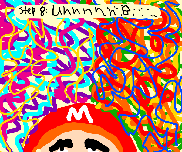 Step 7; Mario begs for some coins for shroom.