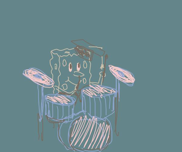 Drum major spongebob