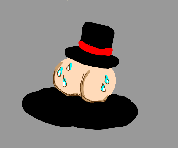 sweaty butt with a top hat