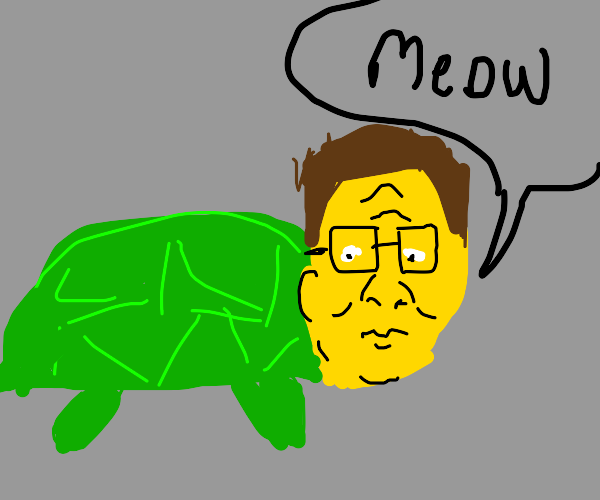 hank hill turtle meows