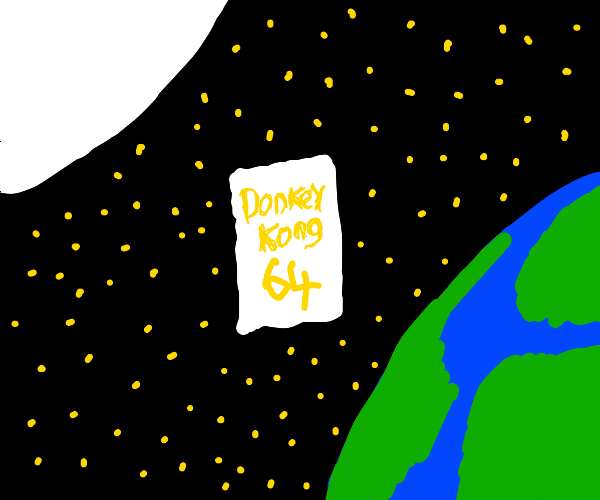 Donkey kong Nintendo 64 floating in space