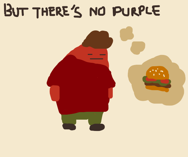 hungry purple man