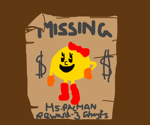 Ms. PAC-MAN missing poster