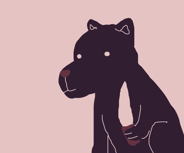 black dog has k n i f e