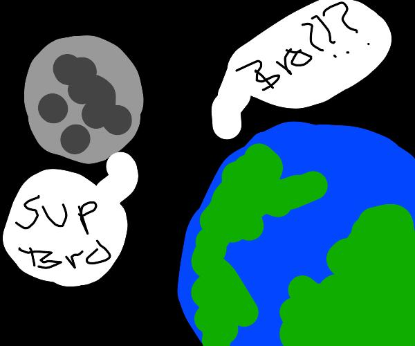 Moon assumes Earths gender