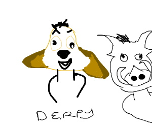 Derpy Timon and Pumbaa