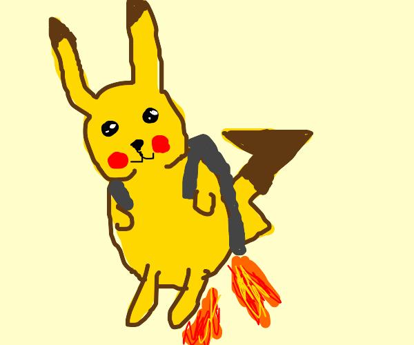 Pikachu has a jet-pack!