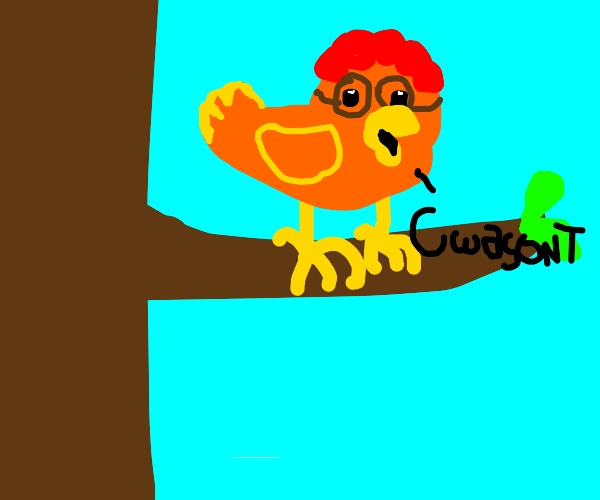 Carl Wheezer as a bird