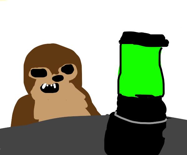 Chewbacca and Baby Yoda