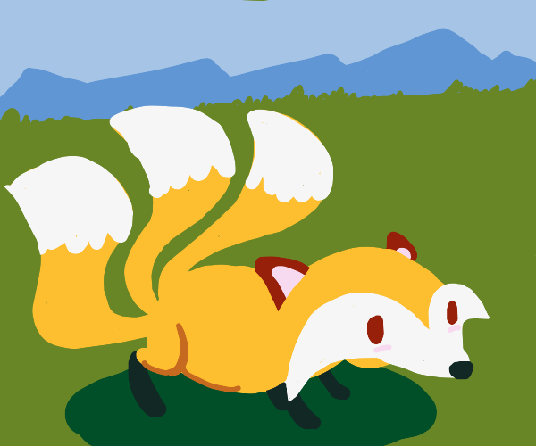 3 tailed fox