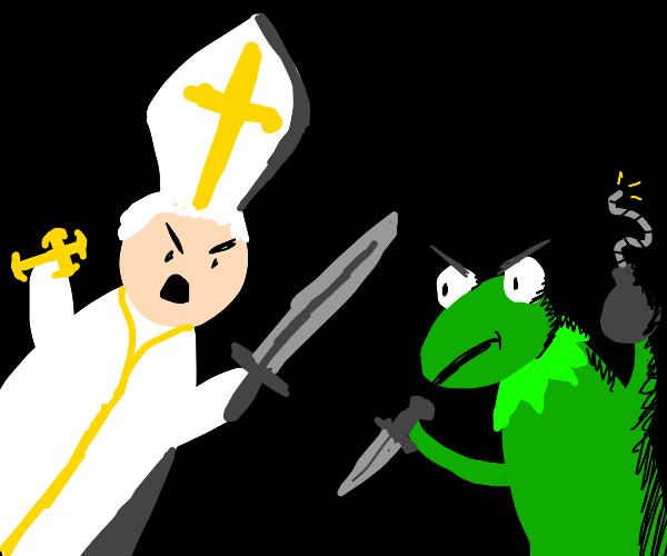 Kermit vs The Pope