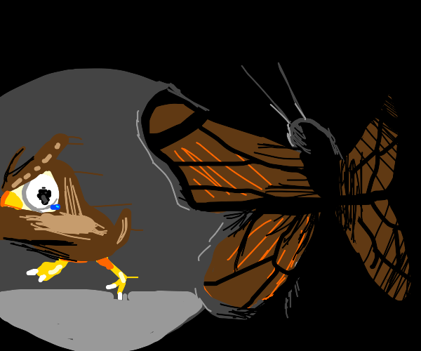 Blathers being scared of bugs