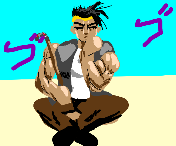 N'doul from jjba is menacing