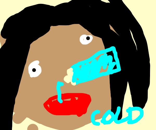 I feel like a swallowed freezed gel