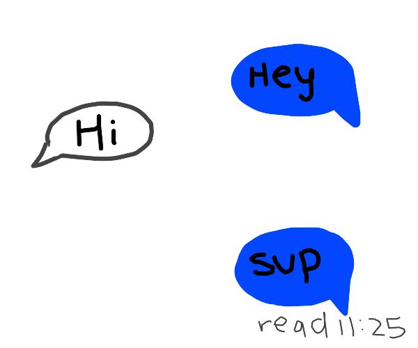 Awkward Short Conversation