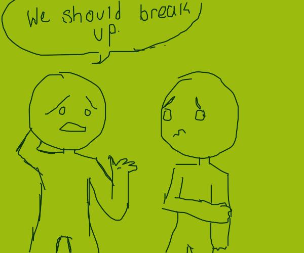 two people breakup