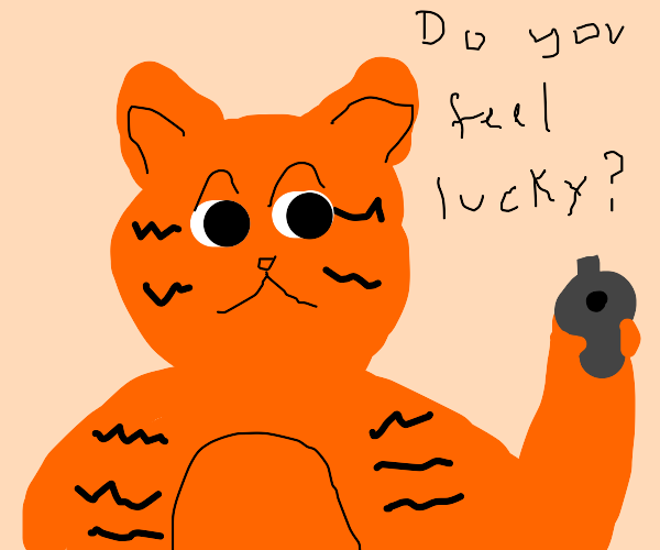 Garfield threatens the reader