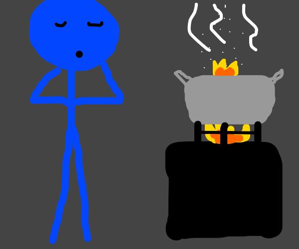 Worst cook ever burns water