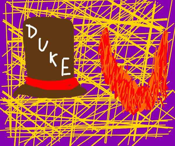 A hat named DUKE and a red beard