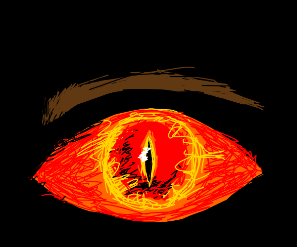 eye of sauron with eyebrow