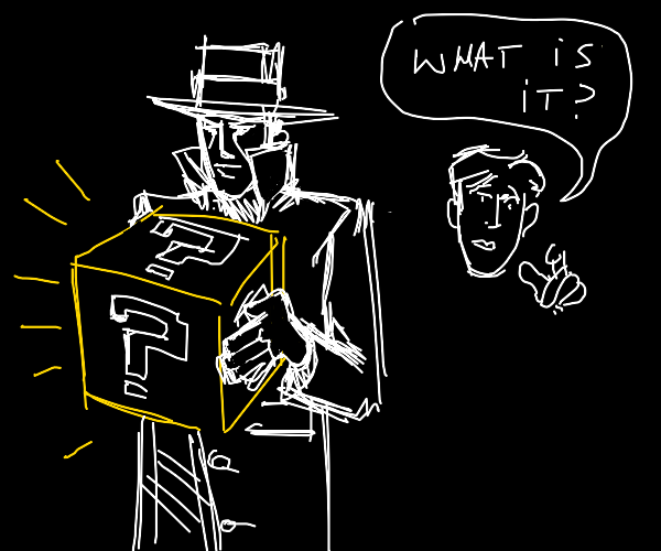 detective finds a mario mystery box
