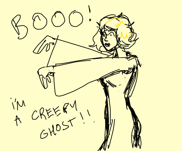 Blonde ghost girl trying to be creepy