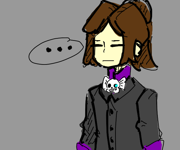Frisk... with... uh, a sans... tie?