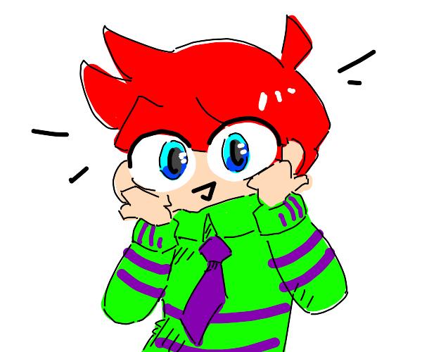 Kawaii red head