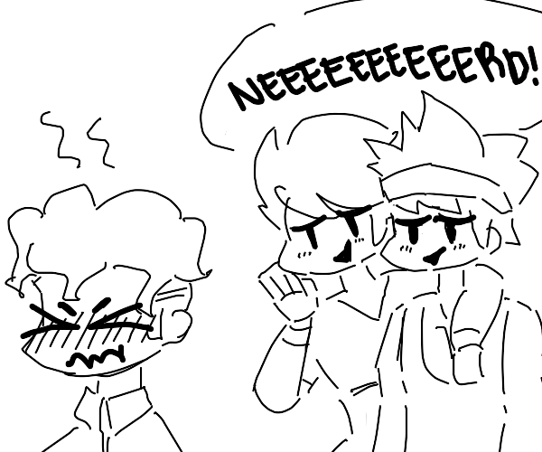 Two thicc bullies and a nerd