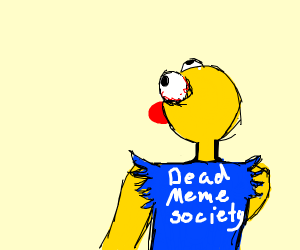 Yellmo joins the dead meme character society