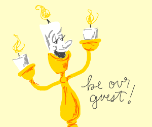 the candle-dude from beuty and the beast