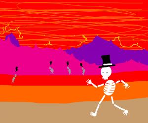 Skeleton in hell