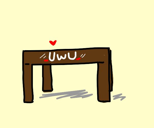uwu cute table