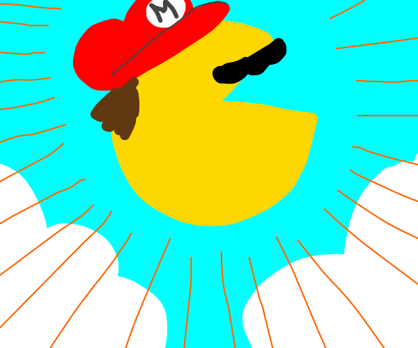 The Mario-Pacman game rises to heaven