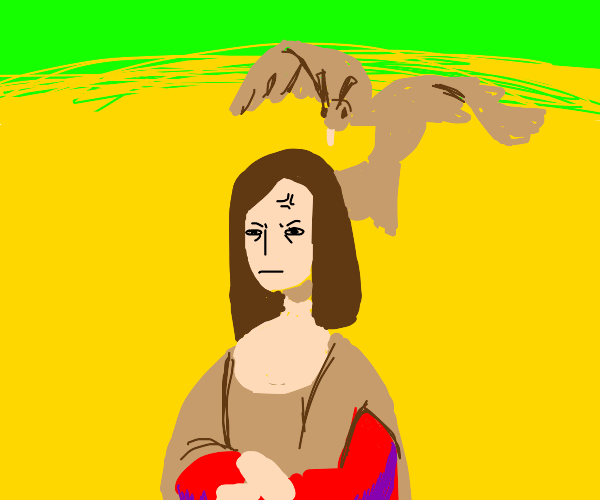monalisa gonna get attacked by hawk