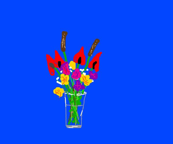 A delightful floral arrangement