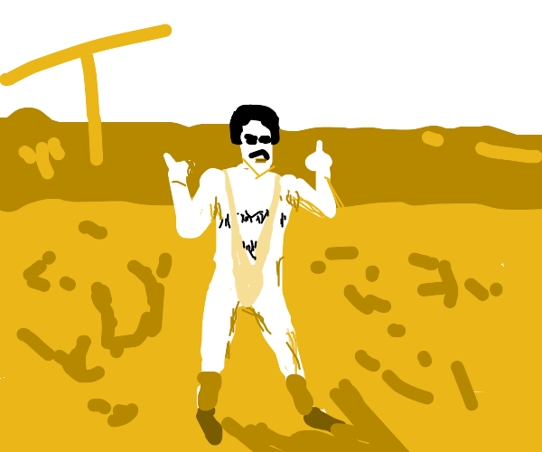 Borat in his speedo