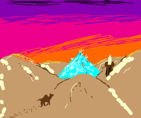 camel finds the fabled crystal pyramid