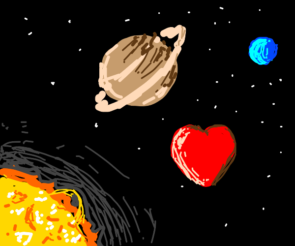 Valentine heart in outer space