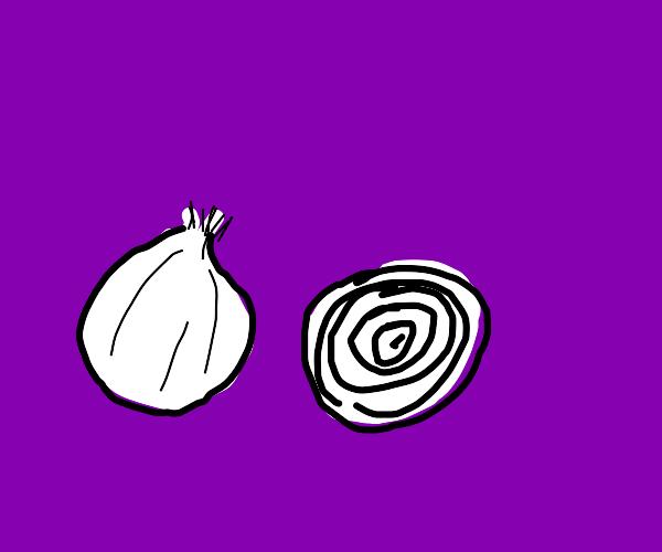 An onion and ahalf