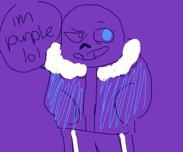 Sans with purple body