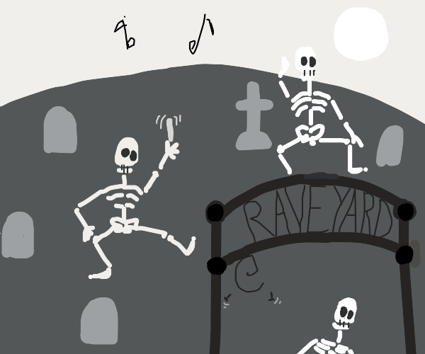 the undead are getting it ON in the raveyard