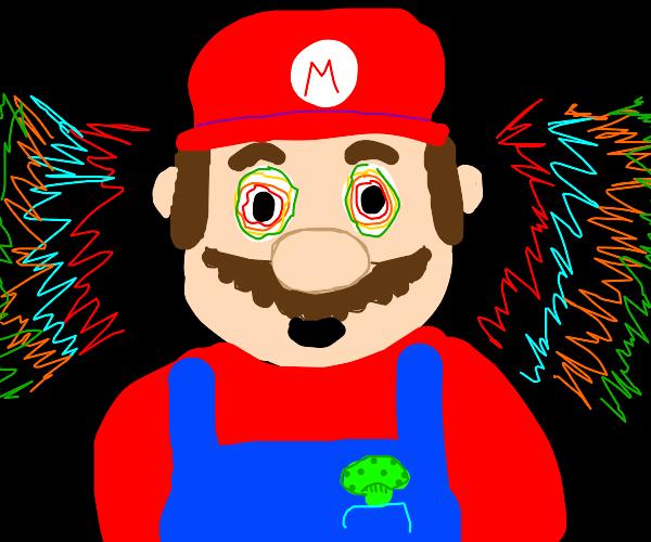 Mario eats the wrong mushroom, o no