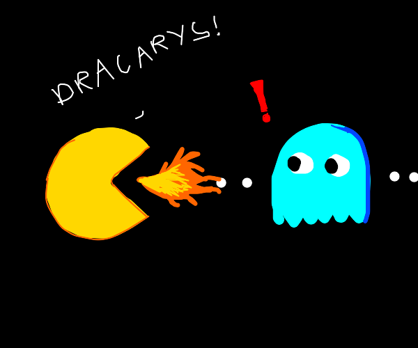 Pacman breathes fire!